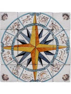 Winds rose panel 16 tiles