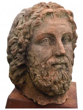 Testa di Zeus piccolo in terracotta