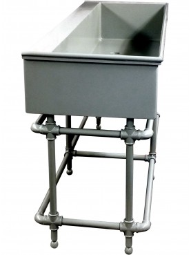 Great industrial forged iron sink