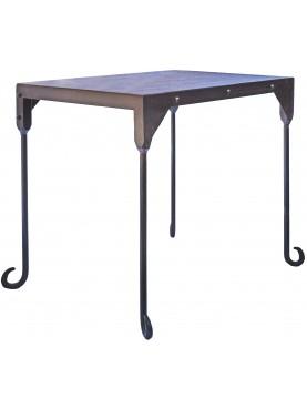 Piccolo tavolo con piano in lamiera