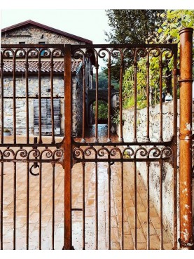 Garden Gate 200 cm large forged iron