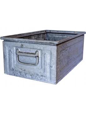 Ancient Zinc metal box SCHAFER brand vintage