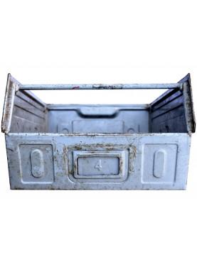 Antica cassetta metallica in ZINCO da officina marca FAMI