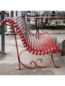 Wrought iron bench - 4 places - very strong