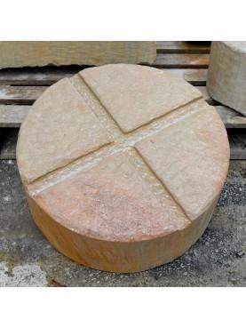 Base in pietra per vasi e conche Ø50 cm