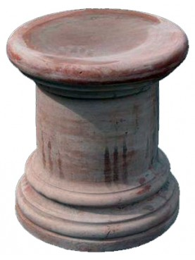 Supporto per statue e vasi H.47cm/Ø42cms in terracotta
