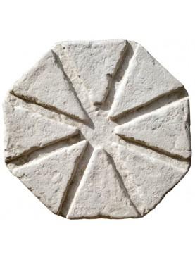 Portavasi per conche da limoni in pietra bianca