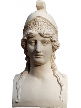 White Terracotta Erma of the Athena of the National Museum of Naples