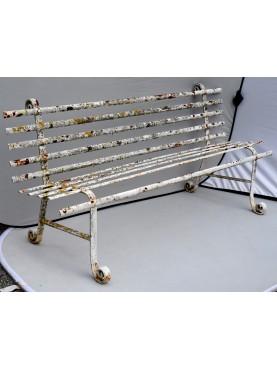 Panchina in ferro battuto a 3 posti originale antica