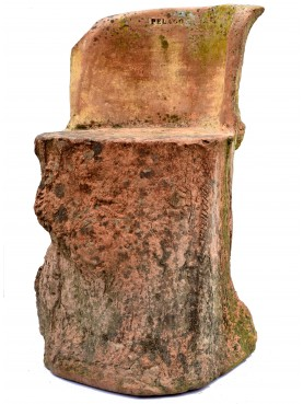 Original ancient rare terracotta seat By Pelago manufacture (Florence)