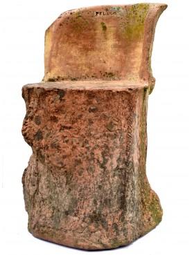 Raro sedile della Manifattura Pelago in terracotta (Firenze)