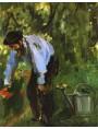 """Edouard Manet 1874 """"la famiglia Manet nel loro giardino di Argenteuil"""" particolare"""