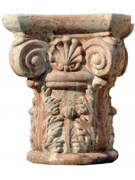 Corinthian capital in terracotta