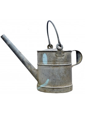 Ancient antique zinc watering can