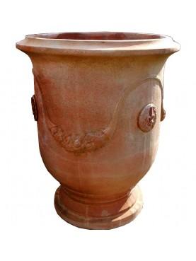 Vaso festonato Andouze Ø49cm in terracotta