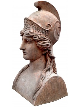 La nostra Atena in terracotta patinata