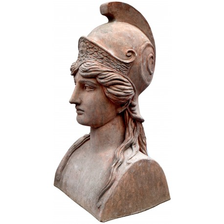 Our Athena in patinated terracotta