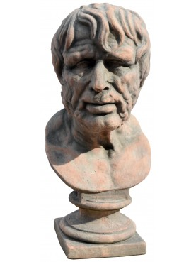 Testa / Busto in terracotta di Seneca