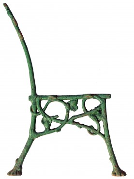 Ancient original cast iron bench legs