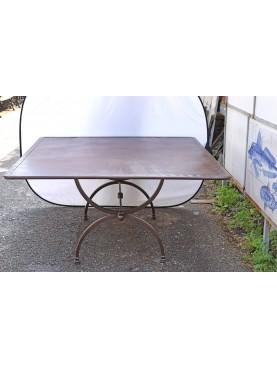 Rectangular forged iron table 160 x 150 cm Porcinai