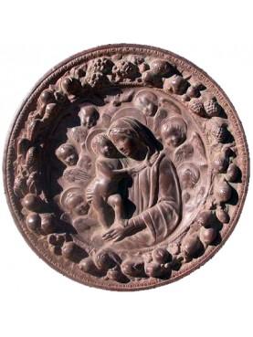 Terracotta Basrelief Della Robbia family