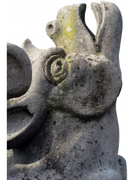 Coppia di Grifoni alati in pietra