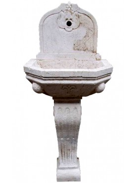 French Lime stone fountain with leg
