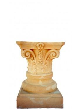 Small Corinthian column H.48cms/Ø32cms - terracotta with capital