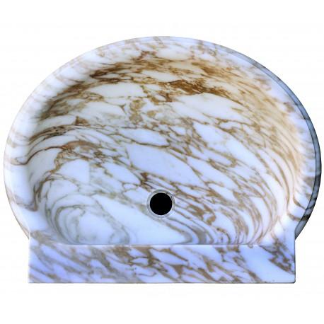 Lavandino in marmo arabescato apuano
