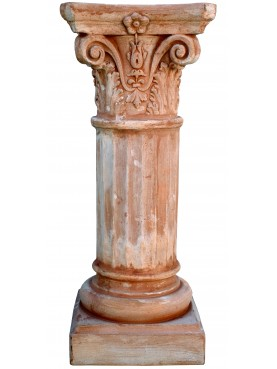 Colonnetta corinzia grande in terracotta