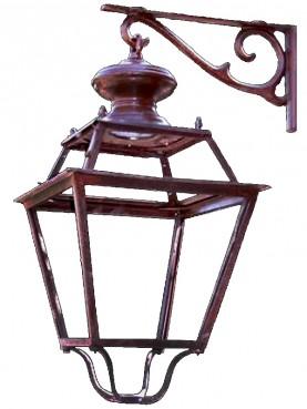 Florence wroughtiron classic lantern with castiron bracket