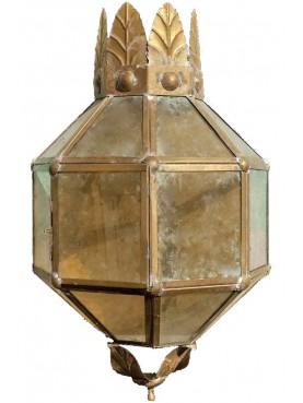 Grande mezza lanterna Italiana in Ottone