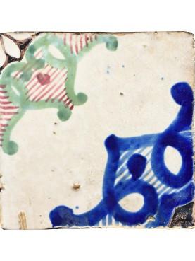 Ancient italian Majolica tile RAFFAELE MARIGLIANO - glazed tiles