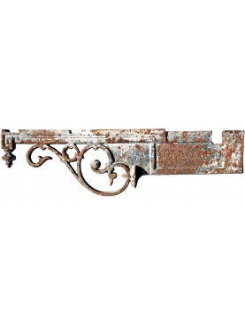 Ancient original Italian 91cms Iron brackets