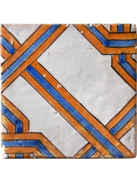 Majolica tile endless knot