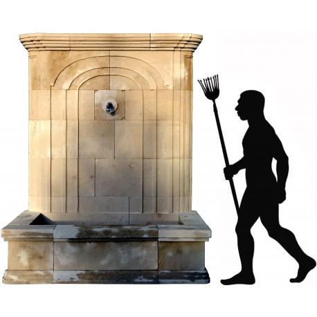 Large limestone fountain