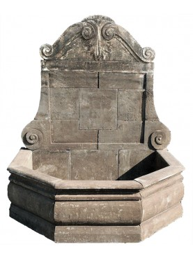 Large stone fountain