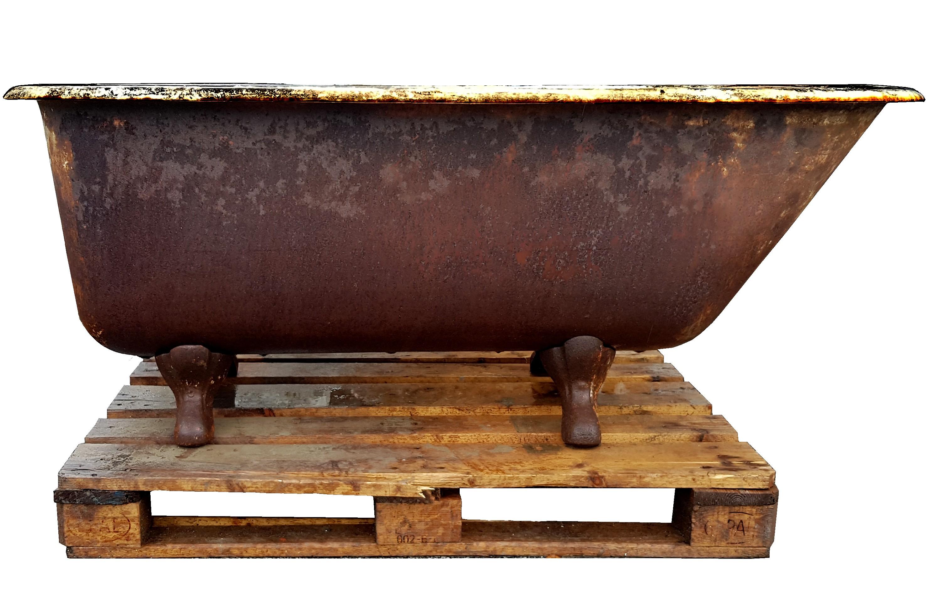 Vasca Da Bagno Ghisa : Antica vasca da bagno in ghisa recuperando