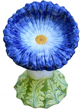 Blue daisy with yellow central disk