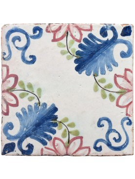 Ancient italian Majolica tile