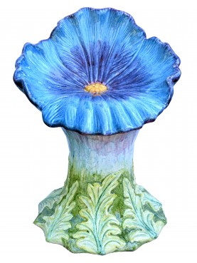 Majolica seat - blue pansy