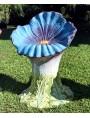 Stupendo sedile maiolicato - pansé blu