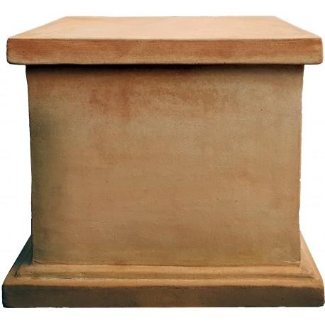 Supporto quadrato per statue e vasi in terracotta