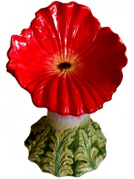 Majolica seat - red poppy