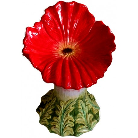 Majolica seat - red poppy