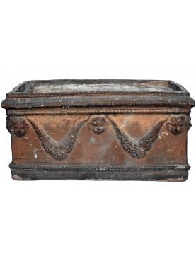 Antico Cassonetto Festonato VACCARELLA in terracotta