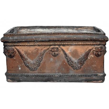 "Ancient Festoon TERRACOTTA NEAPOLITAN box ""VACCARELLA"""
