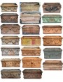 Example of various different types of Neapolitan terracotta boxes