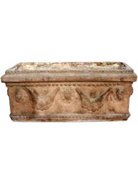 Antico Cassonetto Festonato Napoletano in terracotta