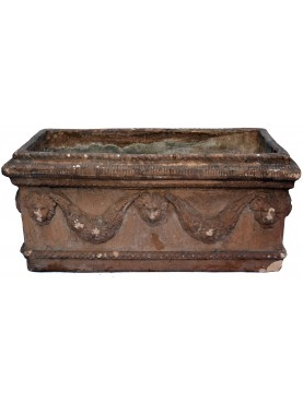 Ancient Festoon TERRACOTTA NEAPOLITAN box